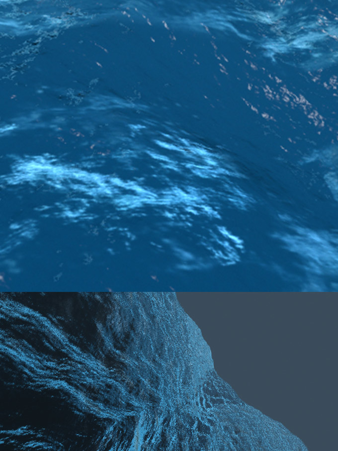 3d render ocean digital sea